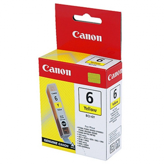 Canon BCI-6 Yellow Ink Cartridge Image