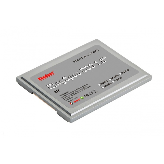 64GB KingSpec 1.8-inch ZIF 40-pin SSD Solid State Disk SMI Controller (MLC) Image