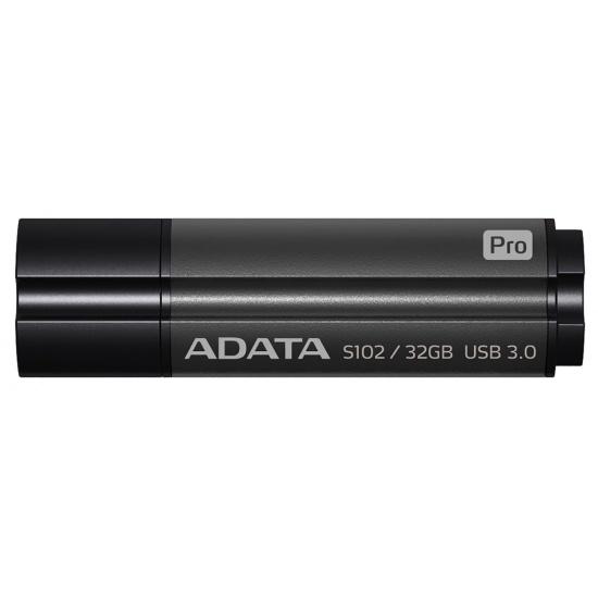 32GB AData DashDrive Elite S102 Pro USB3.0 Flash Drive (Titanium) Image