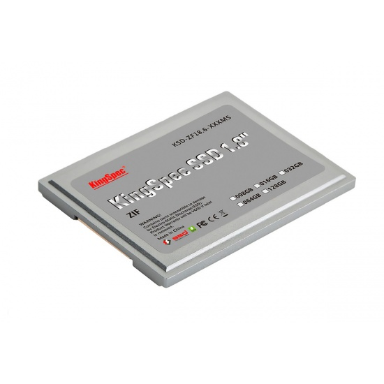 32GB KingSpec 1.8-inch ZIF 40-pin SSD Solid State Disk SMI Controller (MLC) Image