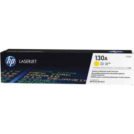 HP LaserJet Toner Cartridge - 130A - CF352A - Yellow - 1000 Page Yield Image