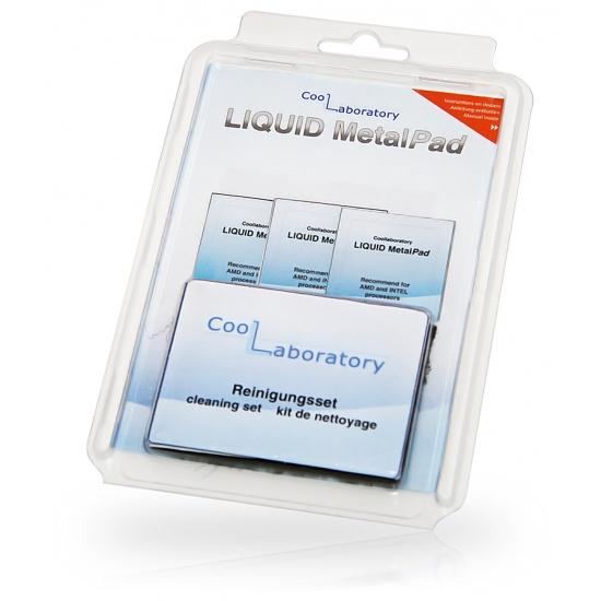 Coollaboratory Liquid MetalPad 3xCPU + Cleaning kit (4260157580060) Image