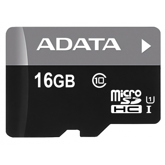 16GB A-Data Turbo microSDHC UHS-1 CL10 Memory Card w/SD adapter Image