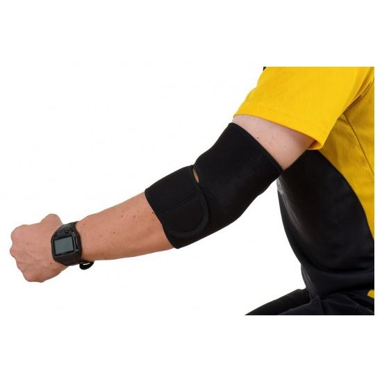 EyezOff Neoprene Elbow Support with Velcro Closing, One Size, Black Image