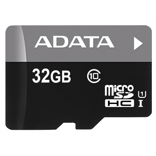 32GB AData Turbo microSDHC UHS-1 CL10 Memory Card w/SD adapter Image