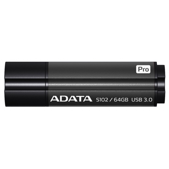 64GB AData DashDrive Elite S102 Pro USB3.0 Flash Drive (Titanium) Image