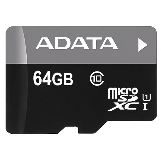 64GB AData Turbo microSDXC UHS-1 CL10 Memory Card w/SD adapter Image