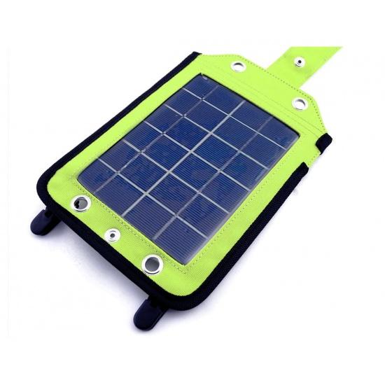 EyezOff EZYG-020 Portable Solar Charger Grey/Bright Green (410mAh panel) Image