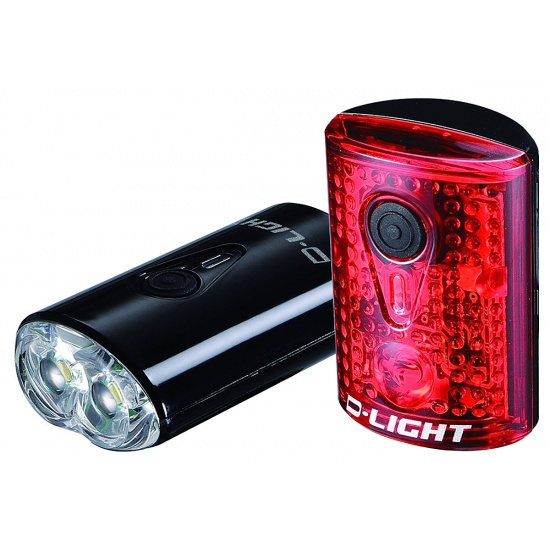 EyezOff USB Rechargeable LED Bicycle Lights Front/Rear Set Image