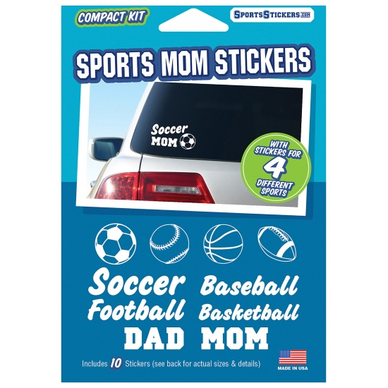 Sports Mom Car Stickers - contains 10 stickers Image