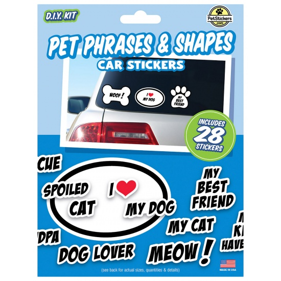 Pet Phrases & Shapes Stickers - Value Pack - contains 28 stickers Image