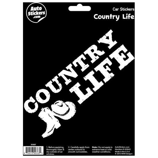 Country Life Car Sticker Image