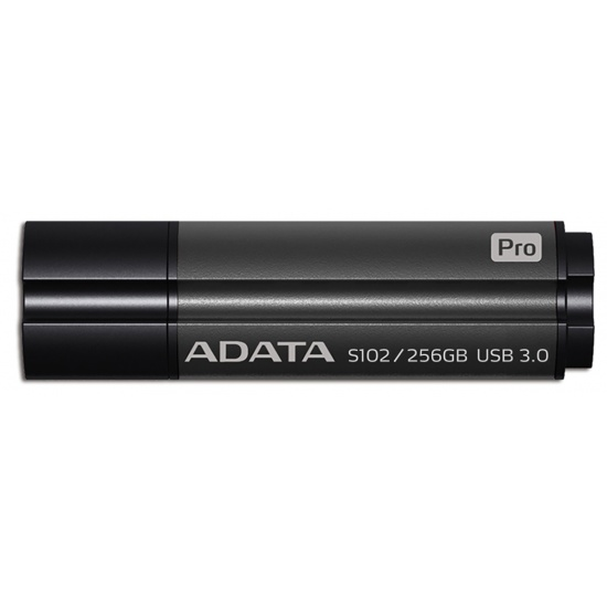 256GB AData DashDrive Elite S102 Pro USB3.0 Flash Drive (Titanium) Image