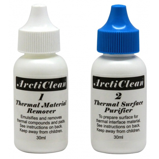 ArctiClean Thermal Material Remover And Surface Purifier (2 Part 60ml Set) Arctic Silver Image