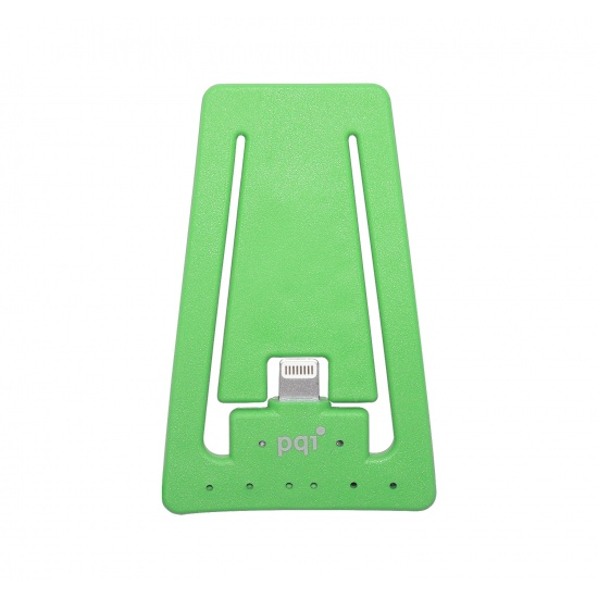 PQI i-Cable Charging and Sync Stand for Apple Lightning Devices - Green Edition Image