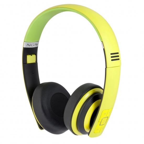 NGS Lime Artica Wireless BT Foldable Headphones  - Lime Green Image