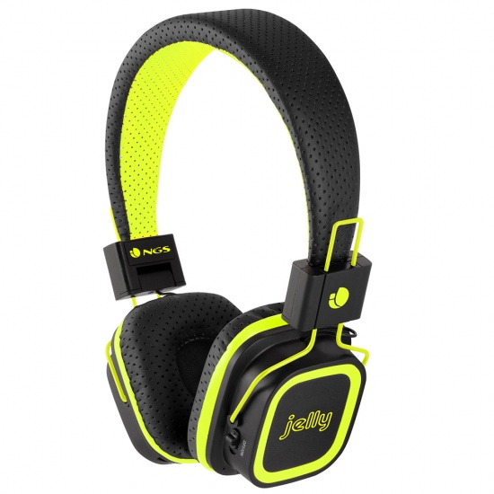 NGS Artica Jelly Wireless BT Stereo Headphones with Micro SD Card Slot - Yellow Image