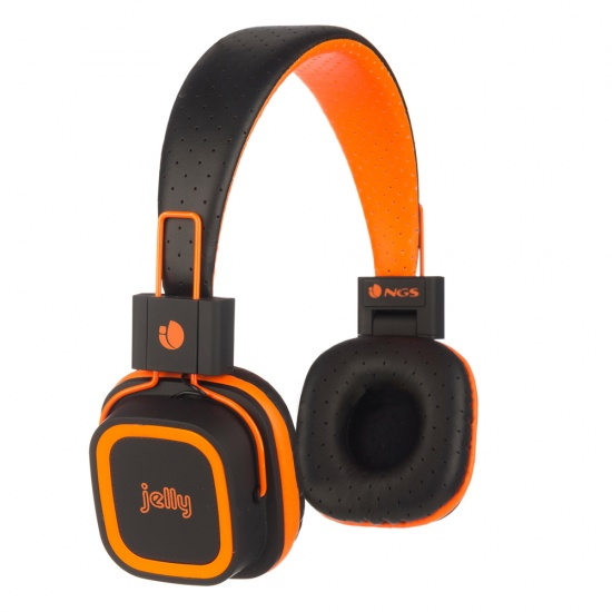 NGS Artica Jelly Wireless BT Stereo Headphones with Micro SD Card Slot - Orange Image