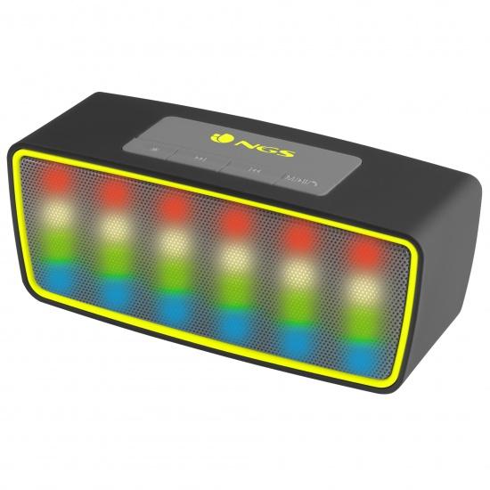 NGS Wireless BT Speaker Roller Glow Black Image