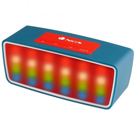 NGS Wireless BT Speaker 3W Roller Glow Blue Image
