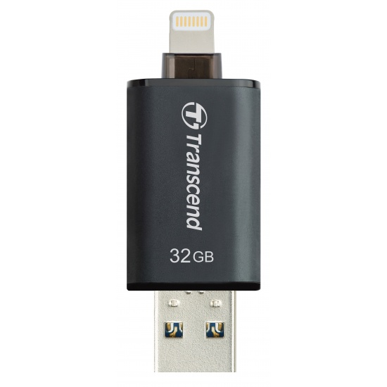 32GB Transcend JetDrive Go 300K - OTG Flash Drive for iOS Devices (iPad, iPhone & iPod) - Black Image