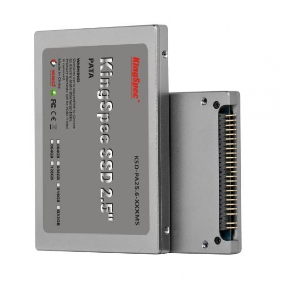 16GB KingSpec 2.5-inch PATA/IDE SSD Solid State Disk (MLC Flash) SM2236 Controller Image