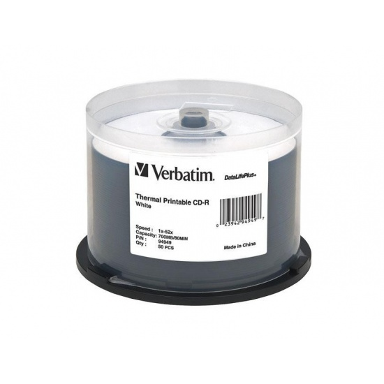 Verbatim DVD-R 4.7GB 16X DataLifePlus Shiny Silver 50-Pack Spindle Image