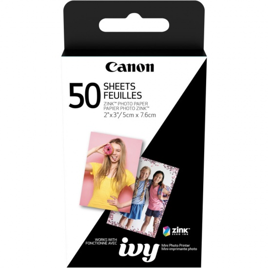 Canon Zink 2x3 Glossy Photo Paper - 50 Sheets Image
