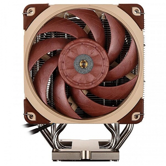 Noctua 120mm Computer Processor Cooler - Beige, Nickel, Red Image