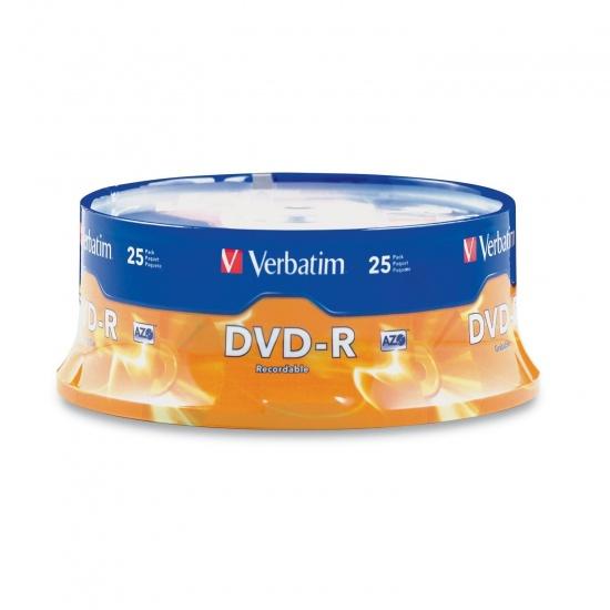 Verbatim DVD-R 4.7GB DVD-R 25 -Pack Spindle Image
