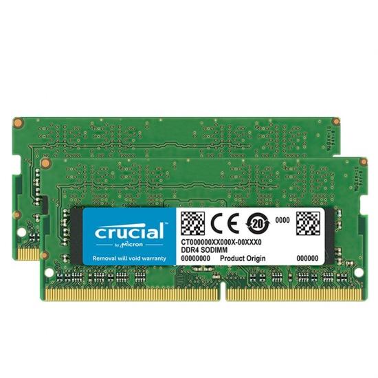 32GB Crucial DDR4 SO-DIMM 2666MHz PC4-21300 CL19 1.2V Dual Memory Kit (2 x16GB) Image