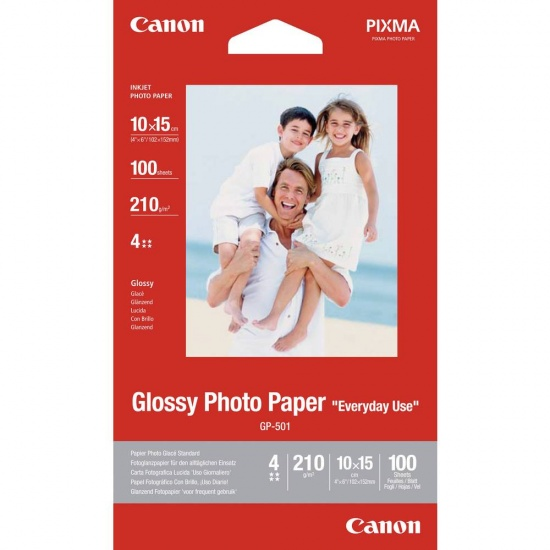 Canon Glossy 4x6-inch Photo Paper - 100 Sheets Image