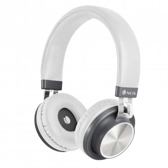 NGS Artica Patrol Wireless BT Stereo Headphones - White Image