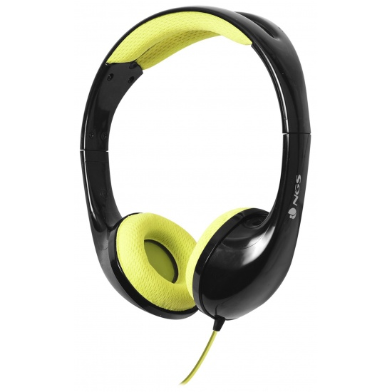NGS Speedy - Foldable Stereo Headphones with Built-in Microphone - Yellow Image