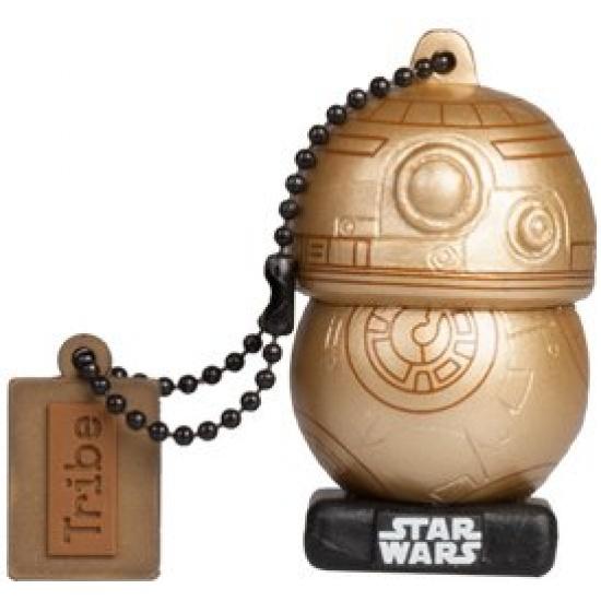 16GB Star Wars TLJ  BB-8 Gold USB Flash Drive Image
