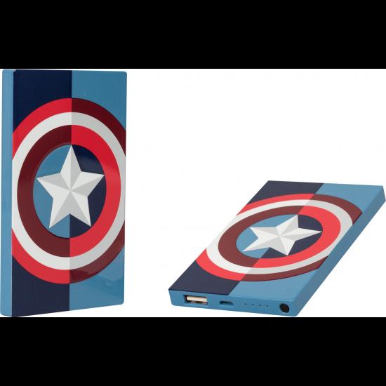 4000mAh Marvel Captain America Power Bank Image