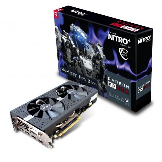 Sapphire Nitro + Radeon RX 580 4GB GDDR5 Graphics Card Image