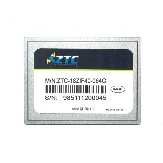 64GB ZTC Cyclone 40-pin ZIF 1.8-inch PATA SSD Enhanced Solid State Drive - ZTC-18ZIF40-064G Image