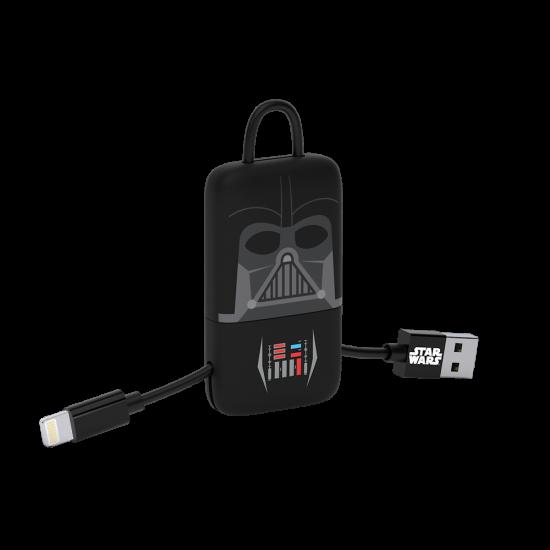Star Wars TLJ Darth Vader KeyLine Lightning Cable 22cm Image
