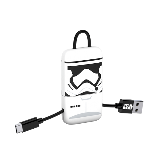 Star Wars TLJ StormTrooper KeyLine Micro USB Cable 22cm Image
