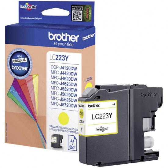 Brother LC223Y Yellow Ink Cartridge Image