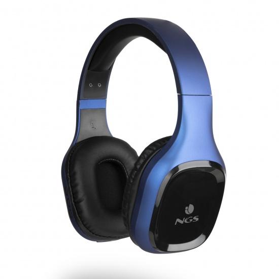 NGS Artica Sloth Wireless BT Headphones, Blue Image