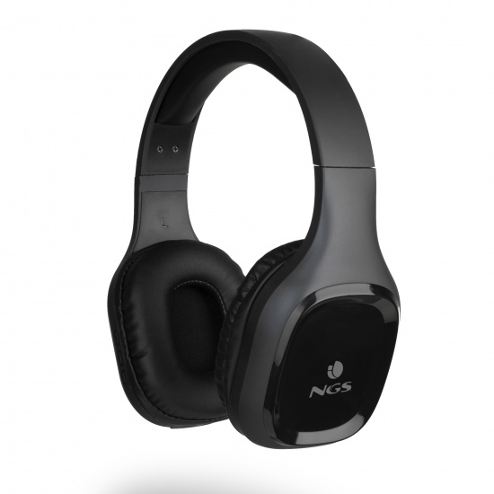 NGS Artica Sloth Wireless BT Headphones, Black Image