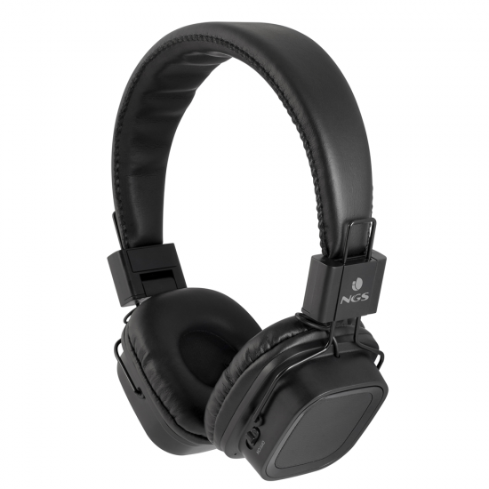 NGS Artica Jelly Wireless BT Stereo Headphones with Micro SD Card Slot - Black Image