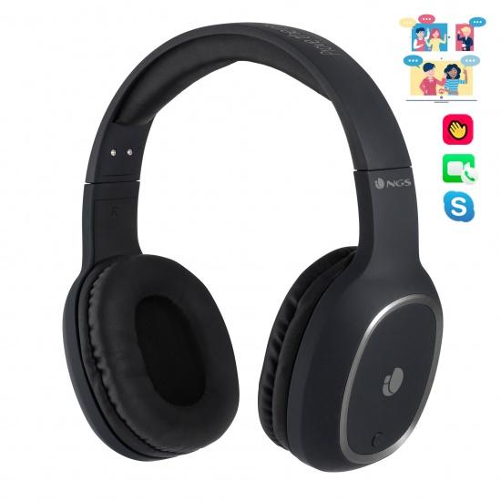 NGS Artica Pride Wireless BT Headphones - Black Image