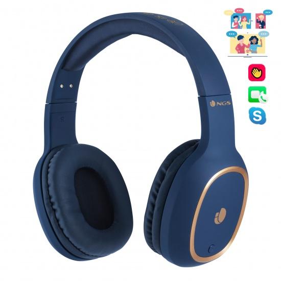 NGS Artica Pride Wireless BT Headphones - Blue Image