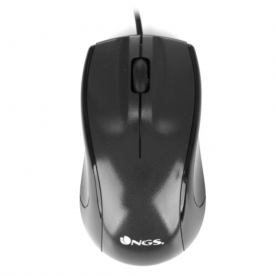 NGS Mist USB Wired Optical Mouse, 3 buttons + Scroll Wheel - Black Image