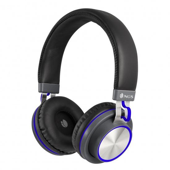 NGS Artica Patrol Wireless BT Stereo Headphones - Blue Image