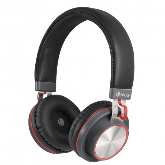 NGS Artica Patrol Wireless BT Stereo Headphones - Red Image