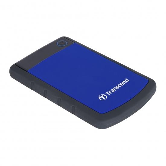 1TB Transcend Blue StoreJet 25H3 2.5-inch USB3.0 Portable Hard Drive Image